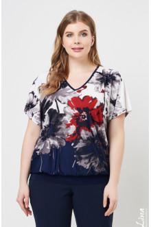 """Блуза """"Лина"""" 4149 (Красный)"""