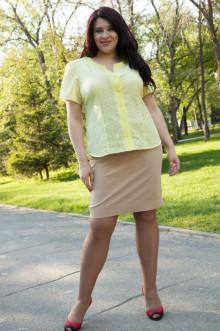 Блузка 248 Luxury Plus (Лимонный)