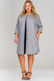 Кардиган-пальто 1517902 ЛаТэ (Серый)