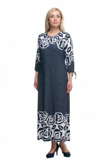 """Платье """"Олси"""" 1605045/3 ОЛСИ (Синий темный/розы)"""