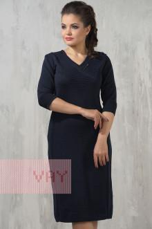 Платье женское 2227 Фемина (Темно-синий)