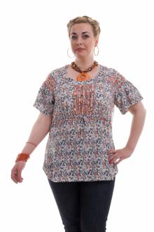 """Блуза """"Олси"""" 1410010.3 ОЛСИ (Оранжевый)"""