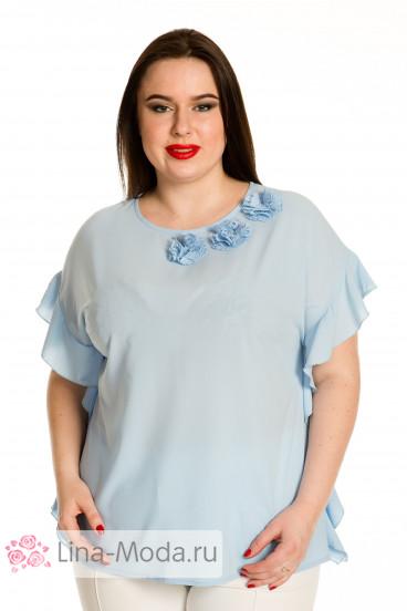 Блузка 705 Luxury Plus (Голубой)