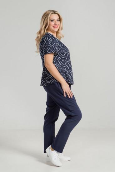 Блуза 906 Luxury Plus (Синий)